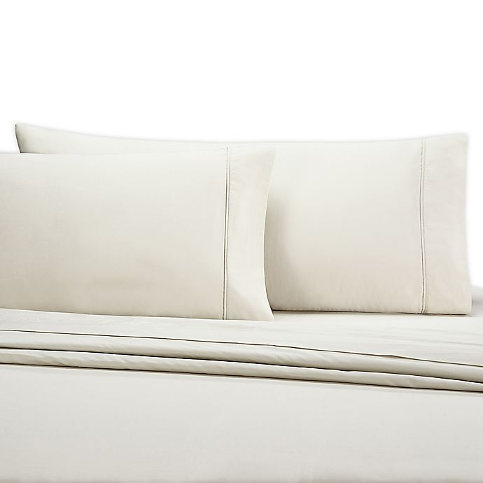 Alternate image 1 for Wamsutta® 350-Thread-Count Egyptian Cotton Queen Sheet Set in Khaki