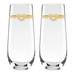 kate spade new york Loves Me Knot™ Stemless Champagne Toasting Flutes (Set of 2)