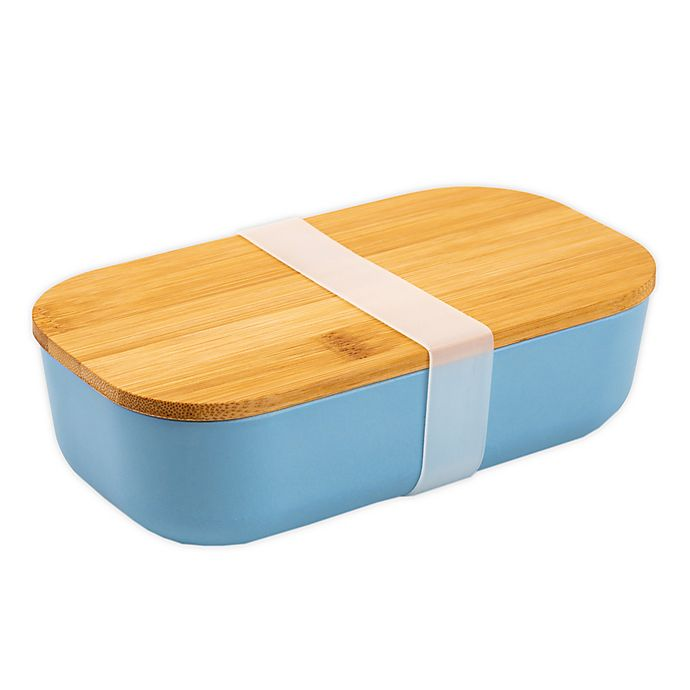Alternate image 1 for Core Kitchen™ Bamboo Fiber Lunch Box in Blue