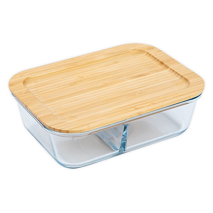 Alternate image 1 for Core Kitchen™ Divided Glass Food Storage Container