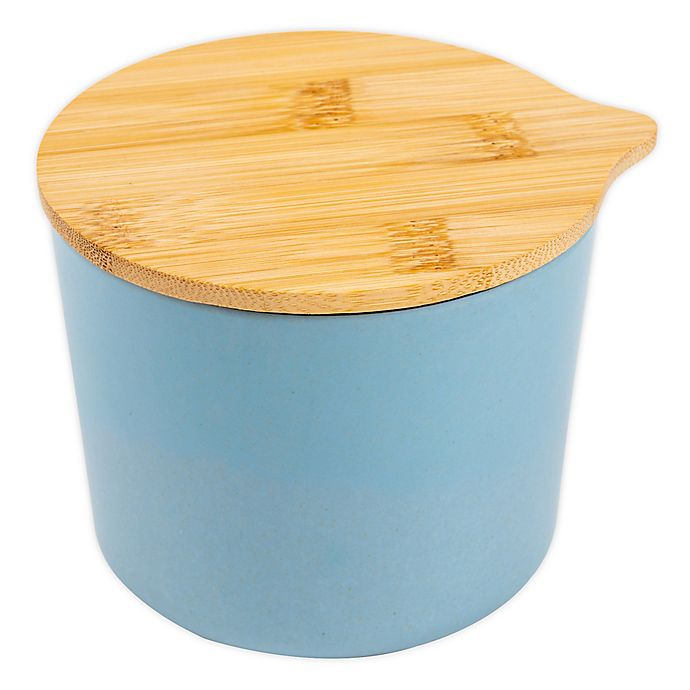 Alternate image 1 for Core Kitchen™ Bamboo Fibers Canister in Light Blue