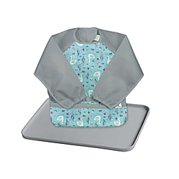 green sprouts® 2-Piece Long Sleeve Bib and Platemat Set