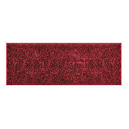 "VCNY Home 60"" x 22"" Butter Shine Chenille Noodle Bath Runner in Red"