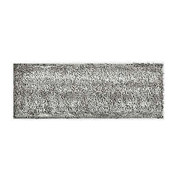 """VCNY Home 60"""" x 22"""" Butter Shine Chenille Noodle Bath Runner in Silver"""