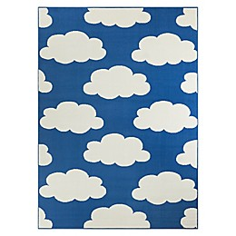Hearthstone Cloud Area Rug in Blue