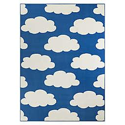 Hearthstone Cloud Area Rug in Blue