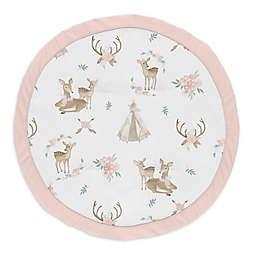 Sweet Jojo Designs® Floral Deer Playmat in Pink/Mint