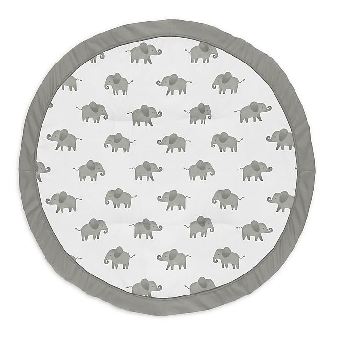 Alternate image 1 for Sweet Jojo Designs® Elephants Playmat in Grey/Black