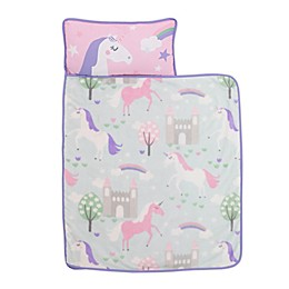 Everything Kids by Nojo® Unicorns Toddler Nap Mat in Pink/Sky Blue