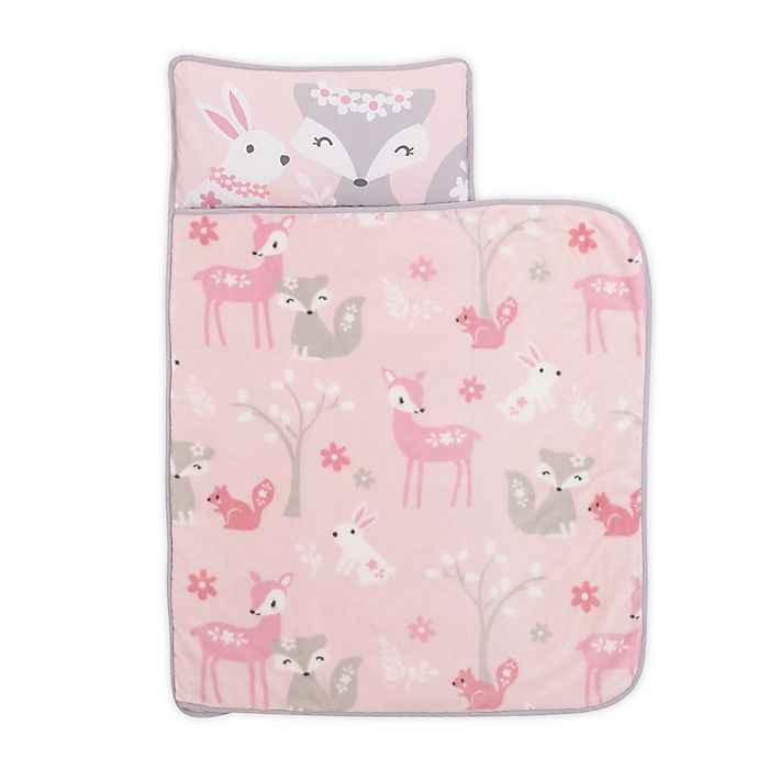 Alternate image 1 for Everything Kids by Nojo® Foxes Toddler Nap Mat in Pink