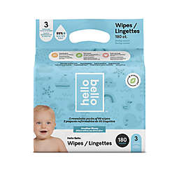 Hello Bello 3-Pack 60-Count Plant-Based Baby Wipes in Blue