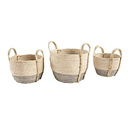 Mud Pie® Seagrass Baskets in White (Set of 3)