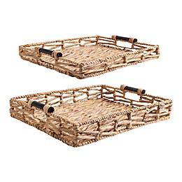 Home Essentials & Beyond Water Hyacinth Baskets in Brown