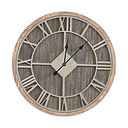 Madison Park Jackson Round 27.5-Inch Wall Clock in Reclaimed Grey