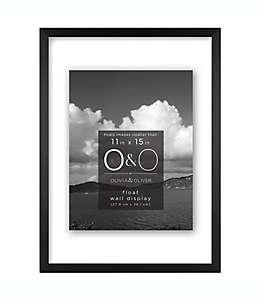 Portarretratos con marco de metal O&O by Olivia & Oliver™ con efecto flotante color negro