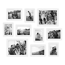 SALT™ 10-Piece Gallery Wood Picture Frame Set in White