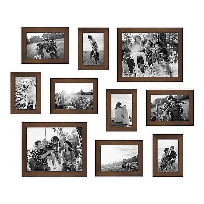 Alternate image 1 for SALT™ 10-Piece Gallery Wood Picture Frame Set