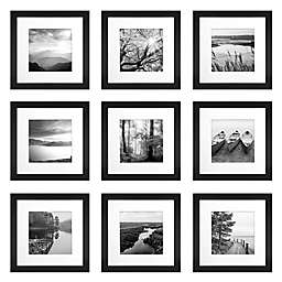 SALT™ 9-Piece 12-Inch x 12-Inch Gallery Picture Frame Set in Black