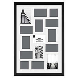 SALT™ Gallery 15-Photo Matted Collage Picture Frame in Black