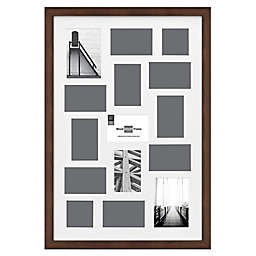 SALT™ Gallery 15-Photo Matted Collage Picture Frame in Walnut