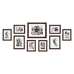 SALT™ 9-Piece Gallery Picture Frame Set in Walnut