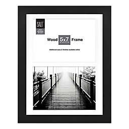 SALT™ Gallery 2-Photo Matted Picture Frame in Black