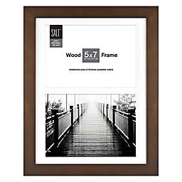 SALT™ Gallery 2-Photo Matted Picture Frame in Walnut