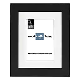 SALT™ Gallery 2-Inch x 3-Inch Matted Picture Frame in Black
