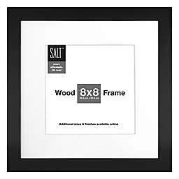 SALT™ Gallery 8-Inch x 8-Inch Matted Picture Frame in Black