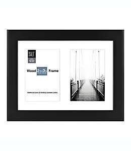 Portaretratos SALT™ Gallery para 2 fotografías con marialuisa color negro