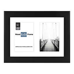 SALT™ Gallery 2-Photo 2-Inch x 3-Inch Matted Picture Frame in Black