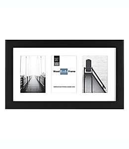 Portaretratos SALT™ Gallery para 3 fotografías con marialuisa color negro