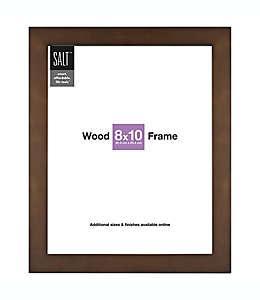 Portarretratos con marco de madera SALT™ Gallery color café nogal