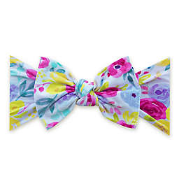 Baby Bling Printed Knot Headband in Peony Parade Print