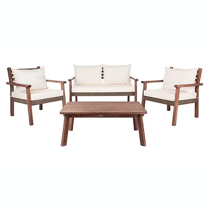 Safavieh Reid 4 Piece Acacia Patio, Safavieh Patio Furniture