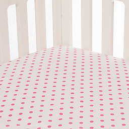 Glenna Jean Millie Fitted Crib Sheet in Pink Dot