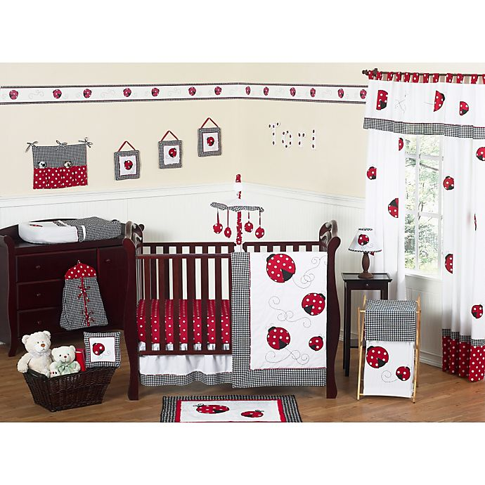 Alternate image 1 for Sweet Jojo Designs Polka Dot Ladybug Crib Bedding Collection