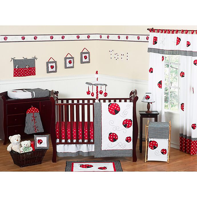 Alternate image 1 for Sweet Jojo Designs Ladybug 11-Piece Crib Bedding Set