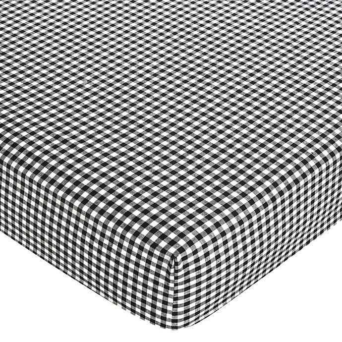 Alternate image 1 for Sweet Jojo Designs Ladybug Fitted Crib Sheet in Gingham
