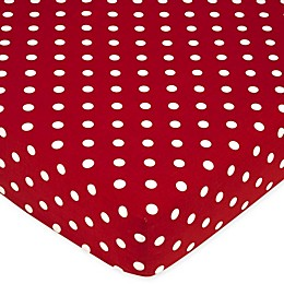 Sweet Jojo Designs Ladybug Polka Dot Fitted Crib Sheet in Red/White