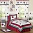 Part of the Sweet Jojo Designs Polka Dot Ladybug Bedding Collection