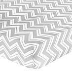 Sweet Jojo Designs Zig Zag Chevron Crib Sheet in Grey
