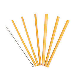 Core Bamboo™ Bamboo Straws with Cleaning Brush (7-Piece Set)