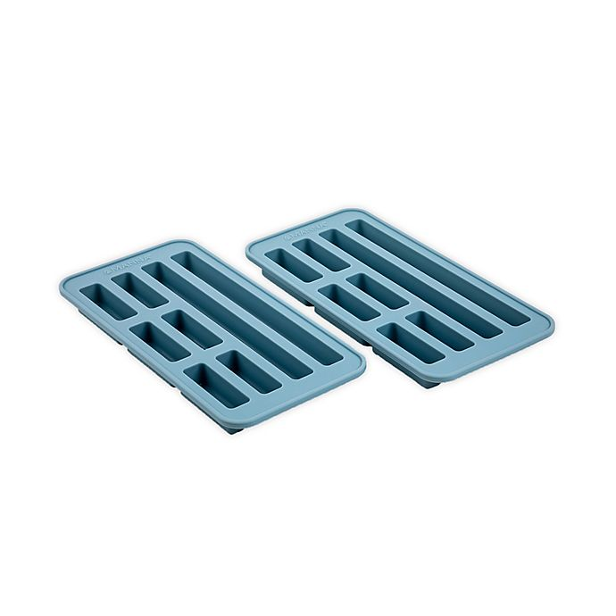 Alternate image 1 for Manna™ Silicone Ice Tray/Mold in Blue (Set of 2)
