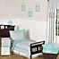 Part of the Sweet Jojo Designs Zig Zag Bedding Collection in Turquoise/Grey