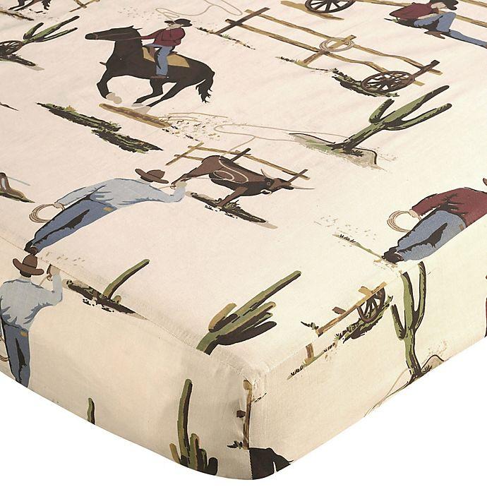 Alternate image 1 for Sweet Jojo Designs Wild West Cowboy Print Fitted Crib Sheet