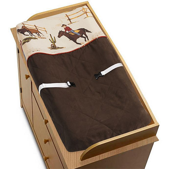 Alternate image 1 for Sweet Jojo Designs Wild West Changing Pad Cover