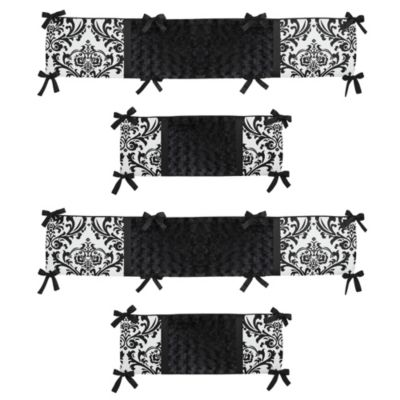 Sweet Jojo Designs Isabella Crib Bumper In Black White