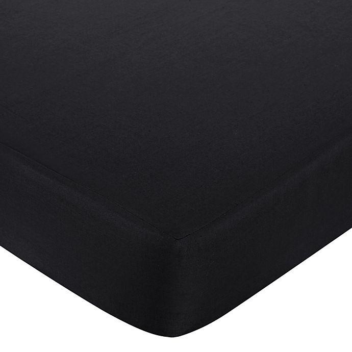 Alternate image 1 for Sweet Jojo Designs Isabella Fitted Crib Sheet in Black