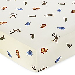 Sweet Jojo Designs Jungle Time Fitted Crib Sheet in Animal Print